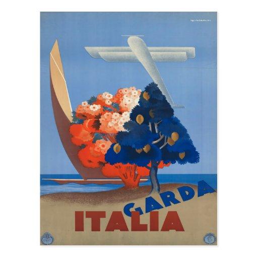 Garda poster del viaje de Italia, Italia del vinta Postales