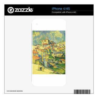 Gardanne by Paul Cezanne iPhone 4S Skins