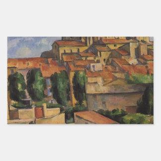 Gardanne (Horizontal View) by Paul Cezanne Rectangular Sticker