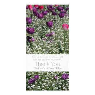 Garden 1 Tulips Sympathy Thank You Photo Card 3