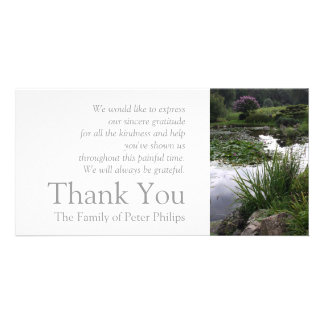 Garden 2 Peaceful Pond Sympathy Thank You 2 Card