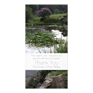 Garden 2 - Peaceful Pond - Sympathy Thank You -3 Photo Card