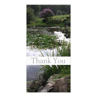 Garden 2 Peaceful Pond Thank You Photo Card 1