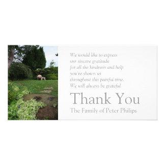 Garden 4 Armchair Sympathy Thank You 2 Card