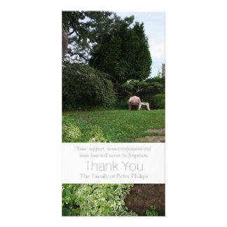 Garden 4 Armchair Sympathy Thank You 3 Card