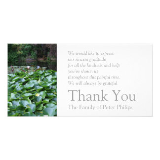 Garden 5 Lotus Sympathy Thank You 2 Card