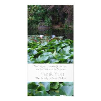 Garden 5 - Lotus - Sympathy Thank You -3 Photo Card