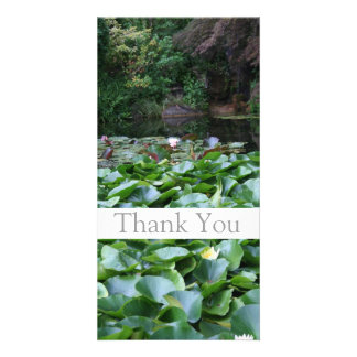 Garden 5 Lotus Thank You Photo Cards 1
