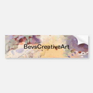 Garden abstract painting bumper sticker