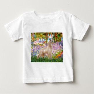 Garden - Afghan Hound (cream stand) Baby T-Shirt