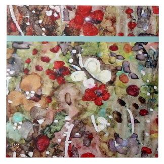 """""""Garden all a Flutter"""" Ceramic Tile"""
