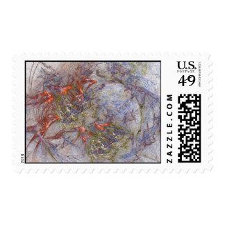 Garden and Butterflies Postage Stamp