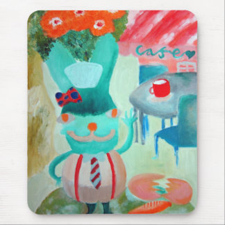 Garden and Cafe Mouse Pad