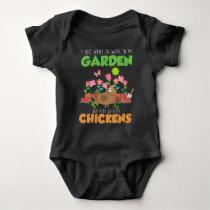 Garden and Chicken Lover Farm Gardening Baby Bodysuit
