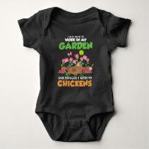 Garden and Chicken Lover Gardening Farm Animal Baby Bodysuit