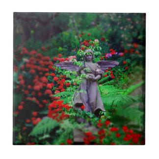 Garden Angel Ceramic Tile
