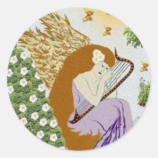 Garden Angel Classic Round Sticker