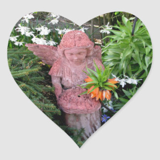 Garden Angel Heart Sticker