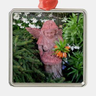 Garden Angel Metal Ornament
