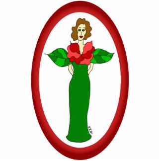 "Garden Angel ""Winter Rose"" Holiday Ornament"