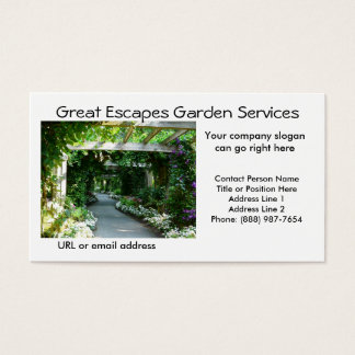 Garden Arbor Walkway Business Card Template