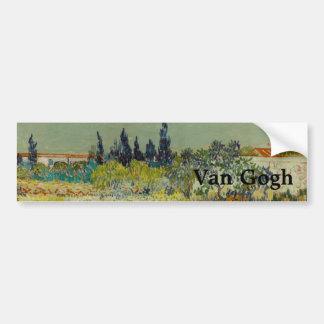 Garden at Arles by Vincent Van Gogh Car Bumper Sticker