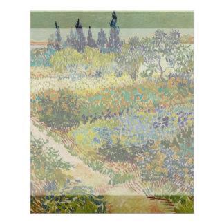 Garden at Arles by Vincent Van Gogh Flyer