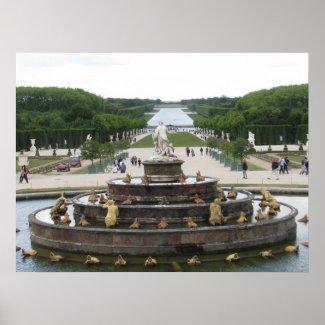 Garden at Chateau de Versailles print