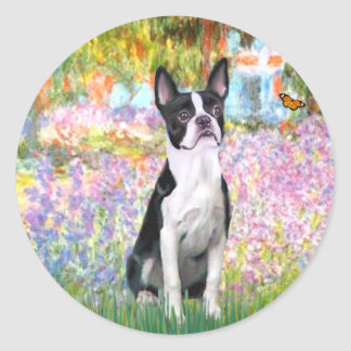 Garden at Giverney - Boston T Classic Round Sticker