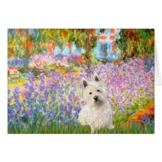 Garden at Giverney - Westie 1 Card