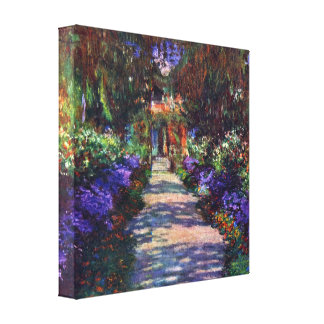 Garden at Giverny by Claude Monet Canvas Print