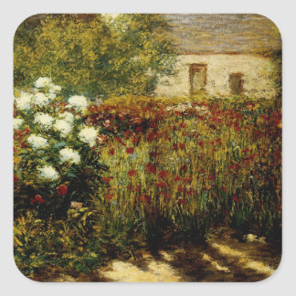 Garden at Giverny Square Sticker