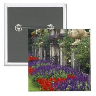 Garden at Mirabell Palace, Salzburg, Austria Pinback Button
