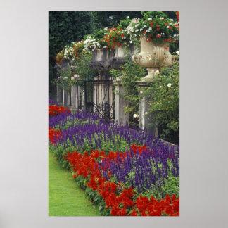 Garden at Mirabell Palace, Salzburg, Austria Print