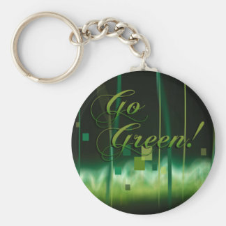 Garden at Night (go green) Keychain