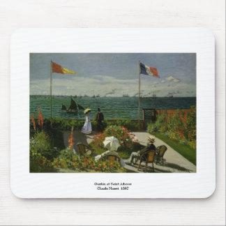 Garden at Saint Adresse by Claude Monet Mouse Pad