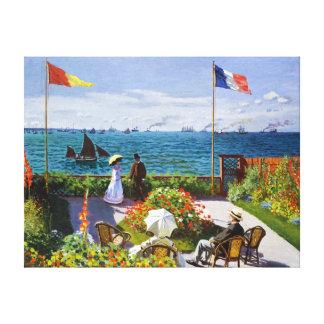 Garden at Sainte-Adresse, 1867 Claude Monet Canvas Print