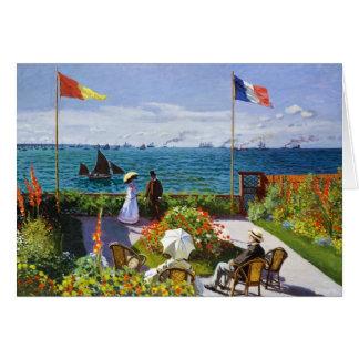 Garden at Sainte-Adresse, 1867 Claude Monet Stationery Note Card