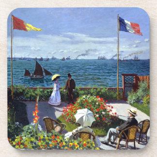 Garden at Sainte-Adresse by Claude Monet Beverage Coaster
