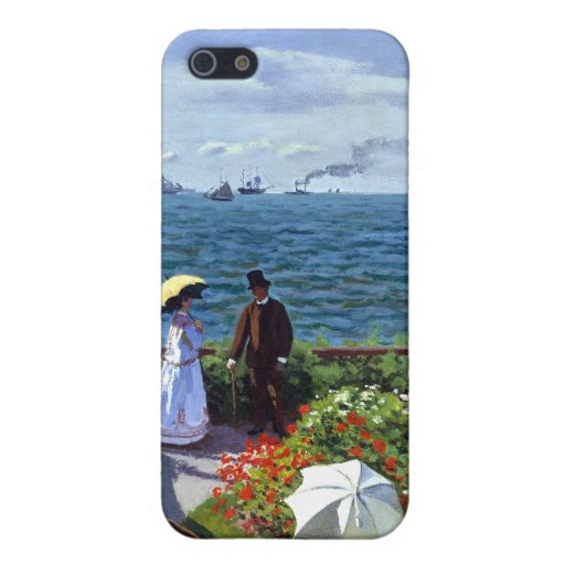 Garden at Sainte-Adresse by Claude Monet Cover For iPhone 5
