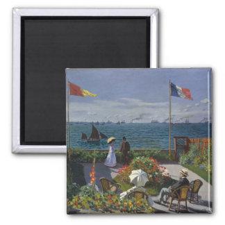 Garden at Sainte-Adresse by Claude Monet Fridge Magnets