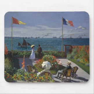 Garden at Sainte-Adresse by Claude Monet Mouse Pad