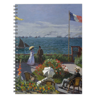 Garden at Sainte-Adresse by Claude Monet Notebook