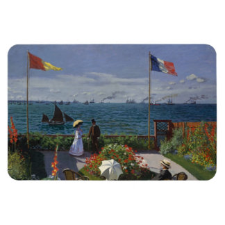 Garden at Sainte-Adresse by Claude Monet Flexible Magnet
