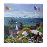 Garden at Sainte-Adresse by Claude Monet Ceramic Tile