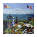 "Garden at Sainte-Adresse by Claude Monet Tile<br><div class=""desc"">Garden at Sainte-Adresse by Claude Monet.  Please visit my store for more interesting design and more color choice. =&gt;     zazzle.com/colorfulworld*</div>"