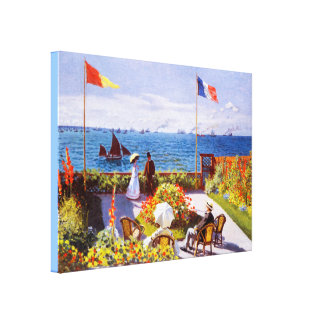 Garden at Sainte-Adresse by Monet Gallery Wrapped Canvas