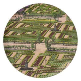 Garden at Villandry Chateau, Indre-et-Loire, 2 Plate