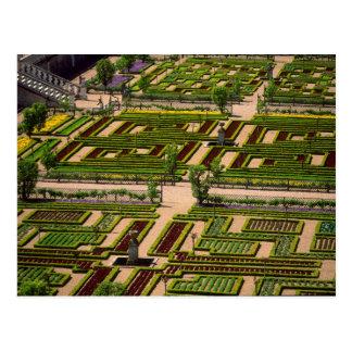 Garden at Villandry Chateau, Indre-et-Loire, 2 Postcard