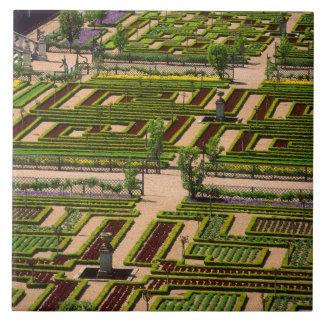 Garden at Villandry Chateau, Indre-et-Loire, 2 Large Square Tile